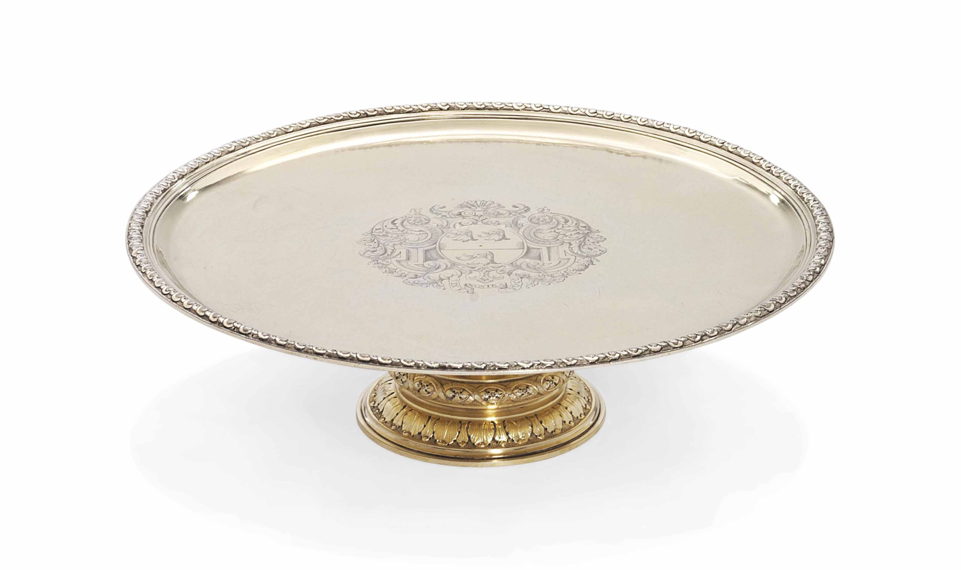 A GEORGE I SILVER-GILT TAZZA
