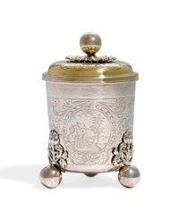 A GERMAN SILVER-GILT BEAKER AND COVER