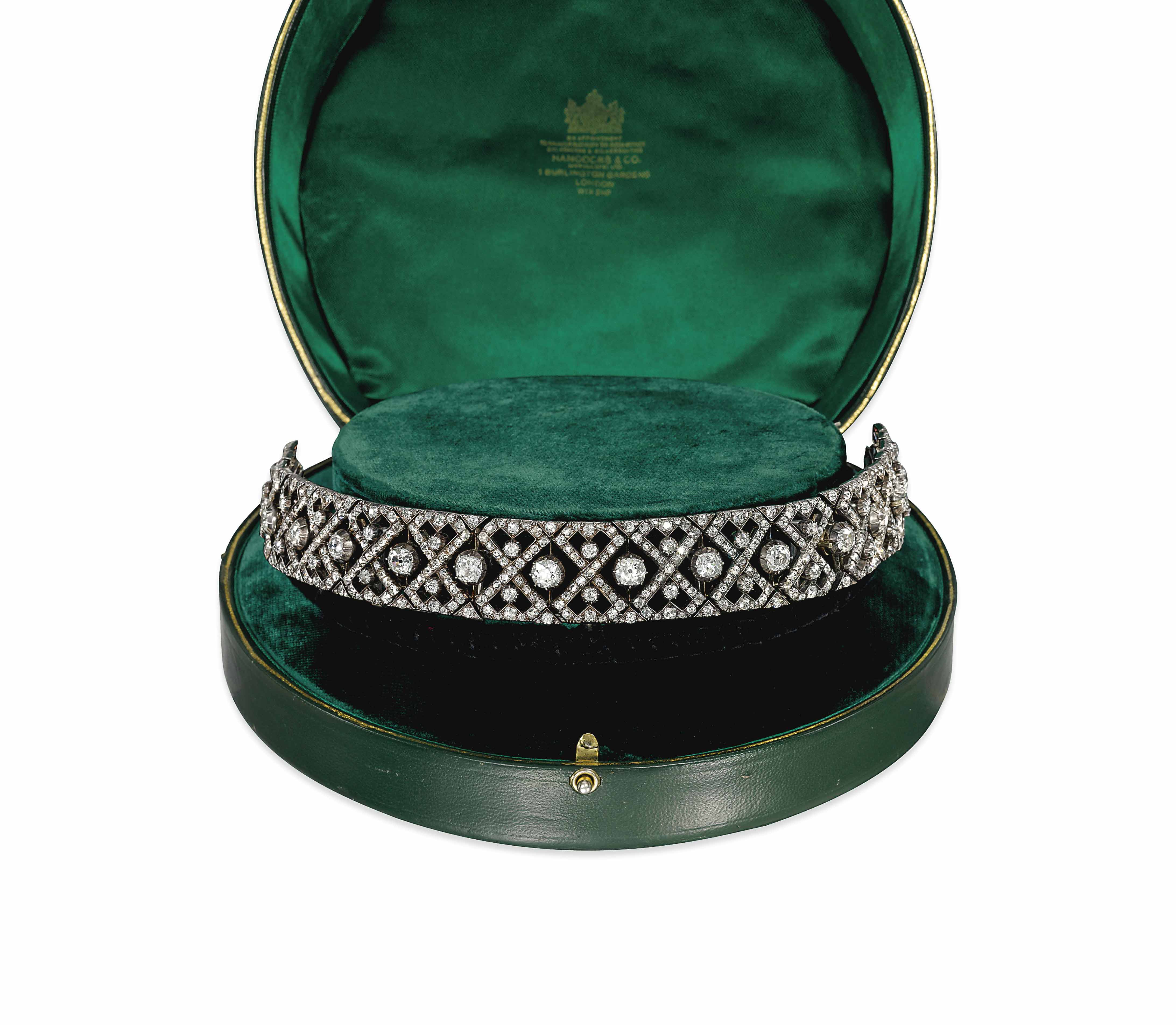 A LATE 19TH CENTURY DIAMOND TI