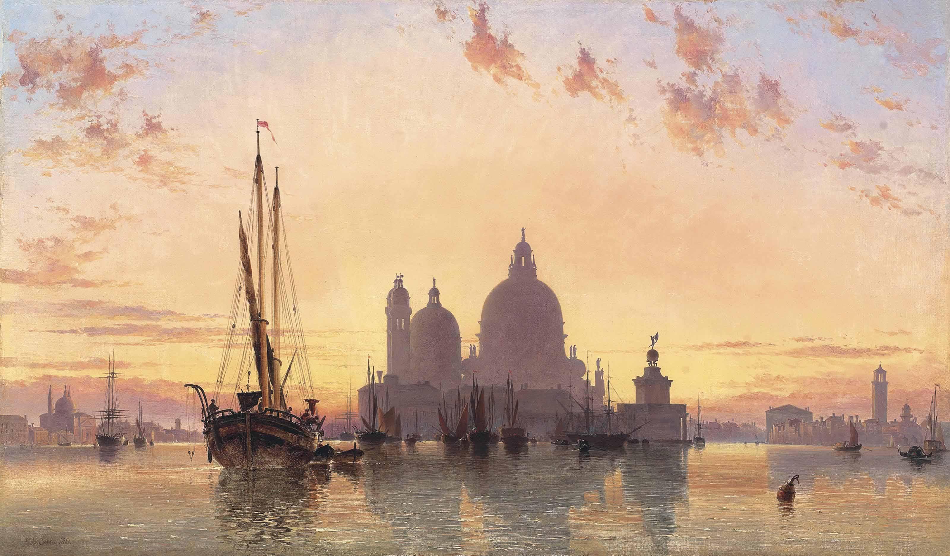 Sunset behind Santa Maria della Salute, Venice