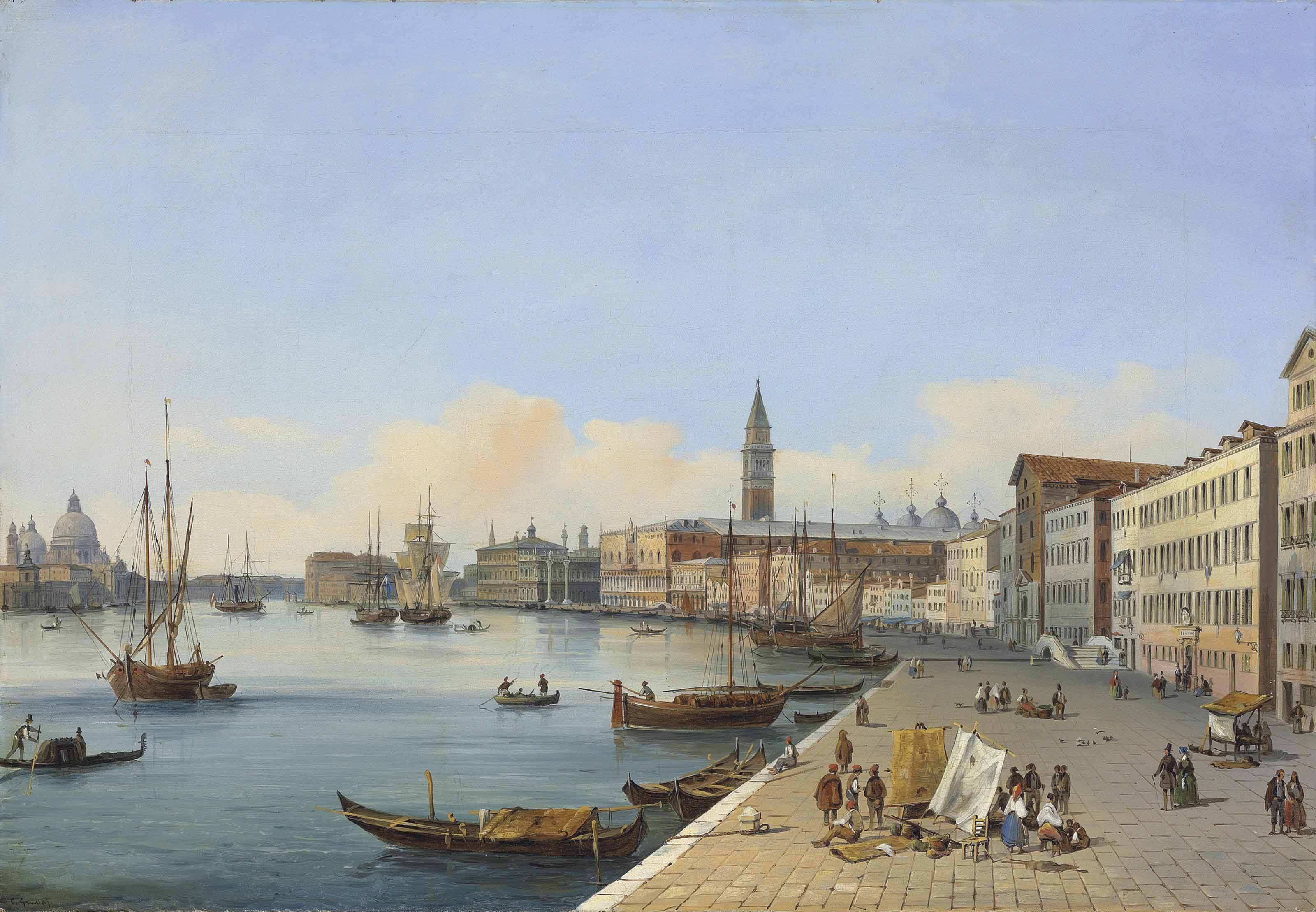 Riva degli Schiavoni towards the Dogana, Venice