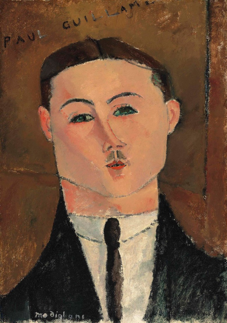 Amedeo Modigliani (1884-1920), Paul Guillaume, painted in 1916. 20⅞ x 14¾  in (53 x 37.5  cm). Sold for £6,781,875 on 18 June 2013 at Christie's in London