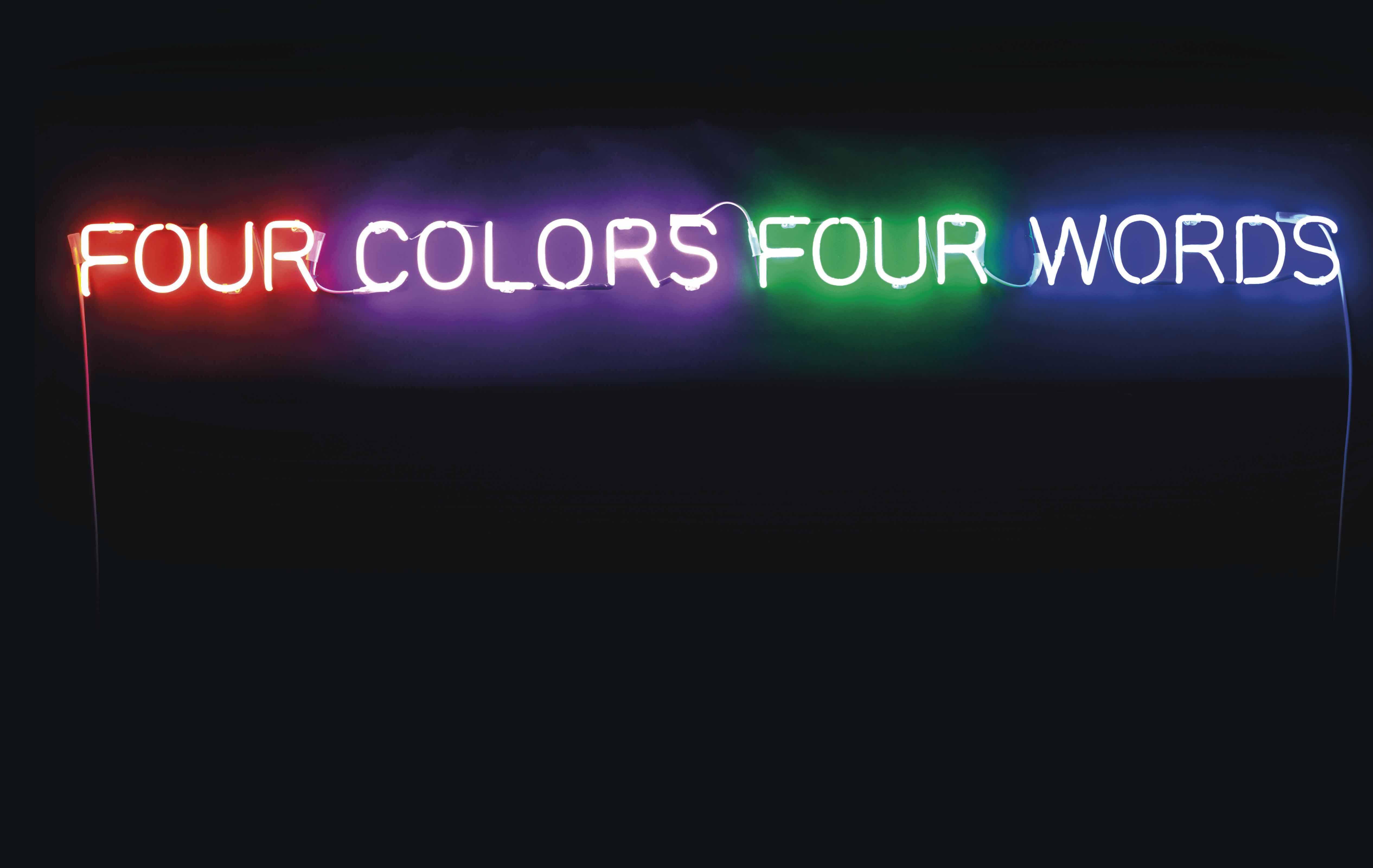 Four Colors Four Words (Orange-Violet-Green-Blue)