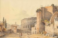 View of the Colosseum from the Forum, Rome