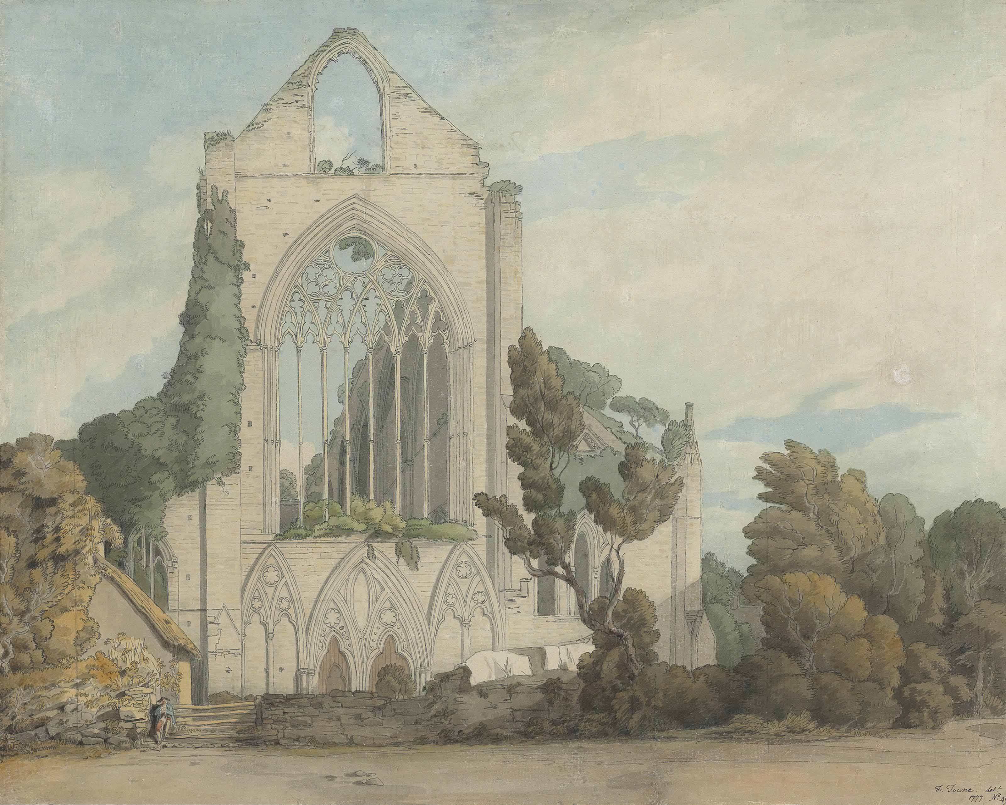 The West Front of Tintern Abbey, Monmouthshire