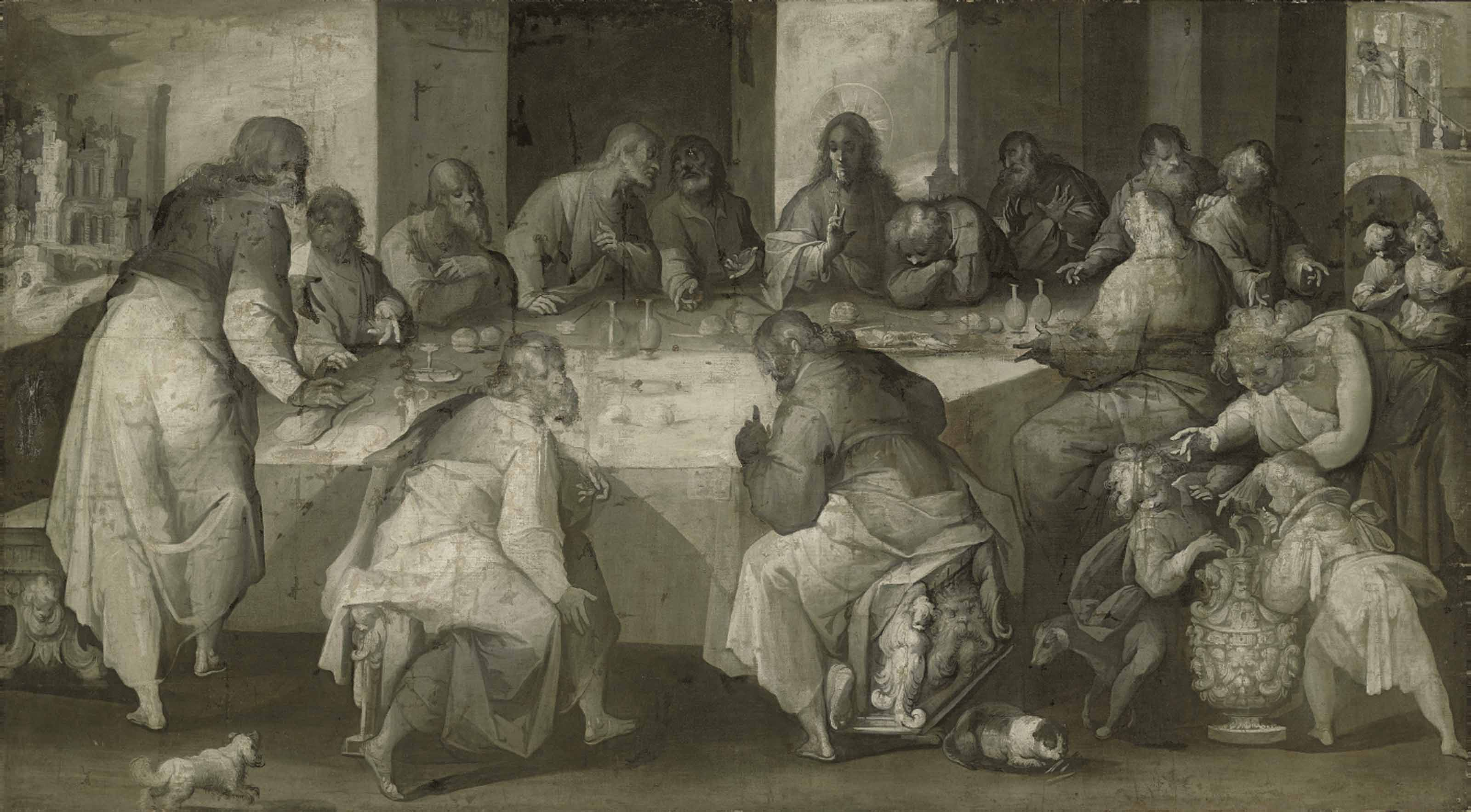 The Last Supper - en grisaille