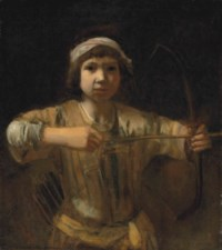Ishmael with a bow and arrow