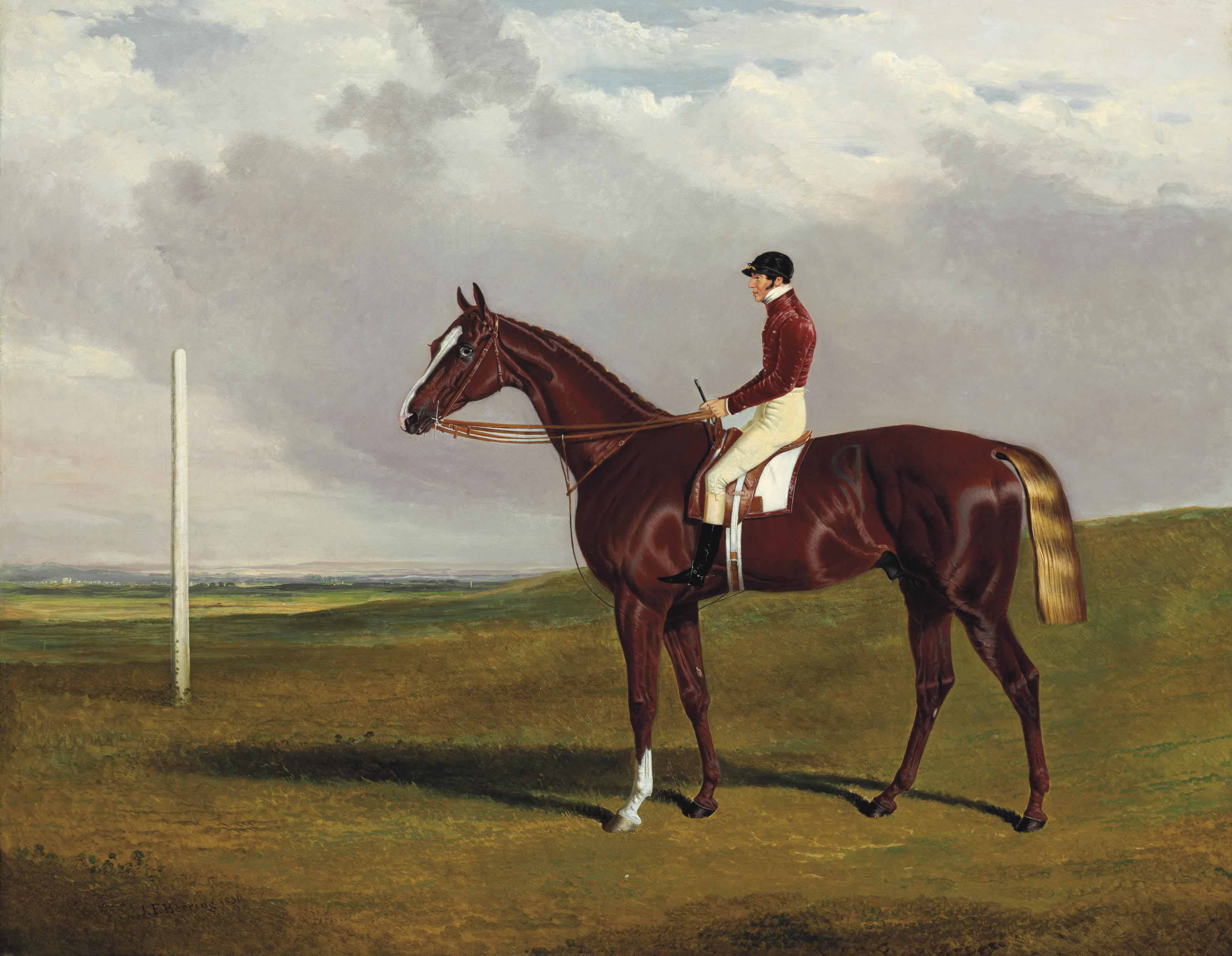 Hornsea, winner of the 1836 Goodwood Cup, with Bill Scott up