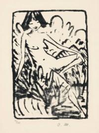 Am Ufer sitzendes Mädchen (Karsch 116)