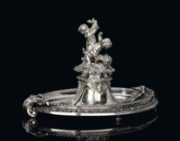 A NAPOLEON III ELECTROPLATED CENTREPIECE