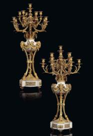 A PAIR OF NAPOLEON III ORMOLU