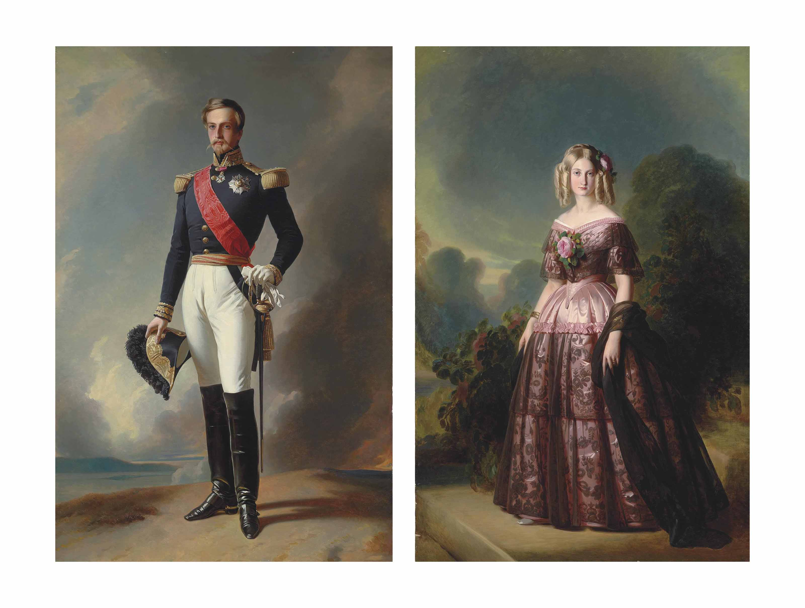 Portrait of the Duc d'Aumale; and Portrait of the Duchess d'Aumale