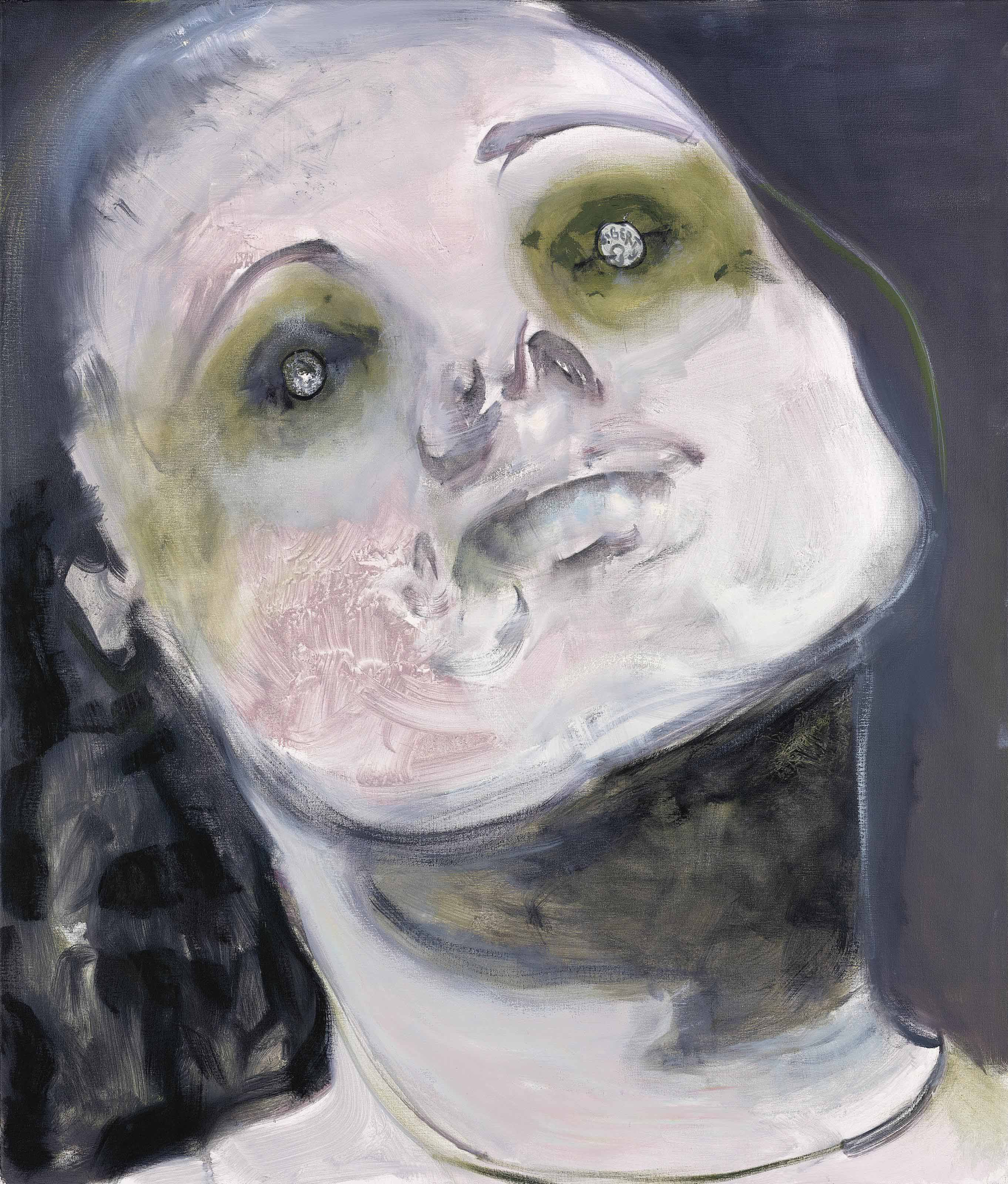 Marlene Dumas (b  1953) | In God We Trust (Paying the Ferry