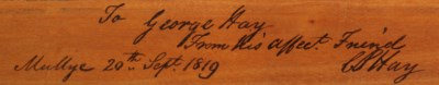 AN ANGLO-INDIAN ENGRAVED AND S