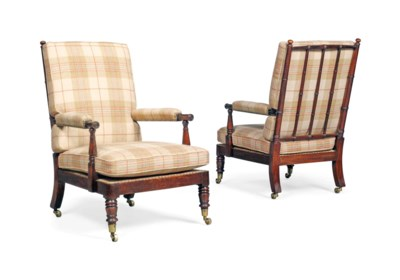 A PAIR OF GEORGE IV SIMULATED