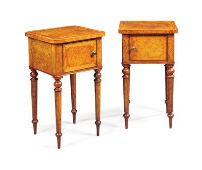 A PAIR OF EARLY VICTORIAN BURR