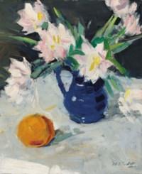 Still life with blue jug