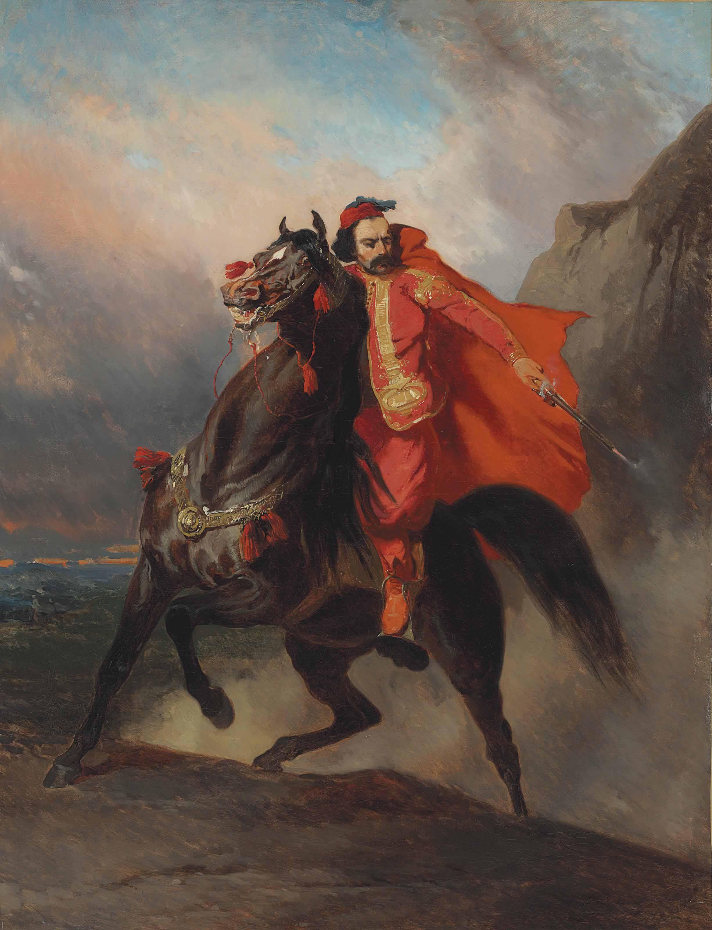 Guerrier Ottoman à cheval