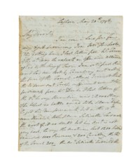 NELSON, Horatio, Viscount (1758-1805). Autograph letter signed ('Horatio Nelson'), with his right hand, to Sir William Hamilton [Ambassador to Naples], Leghorn, 20 May 1796, 2  pages, 4to, bifolium, docket (traces of paste to inner margin). Provenance: Christie's, 20 June 1990, lot 202.
