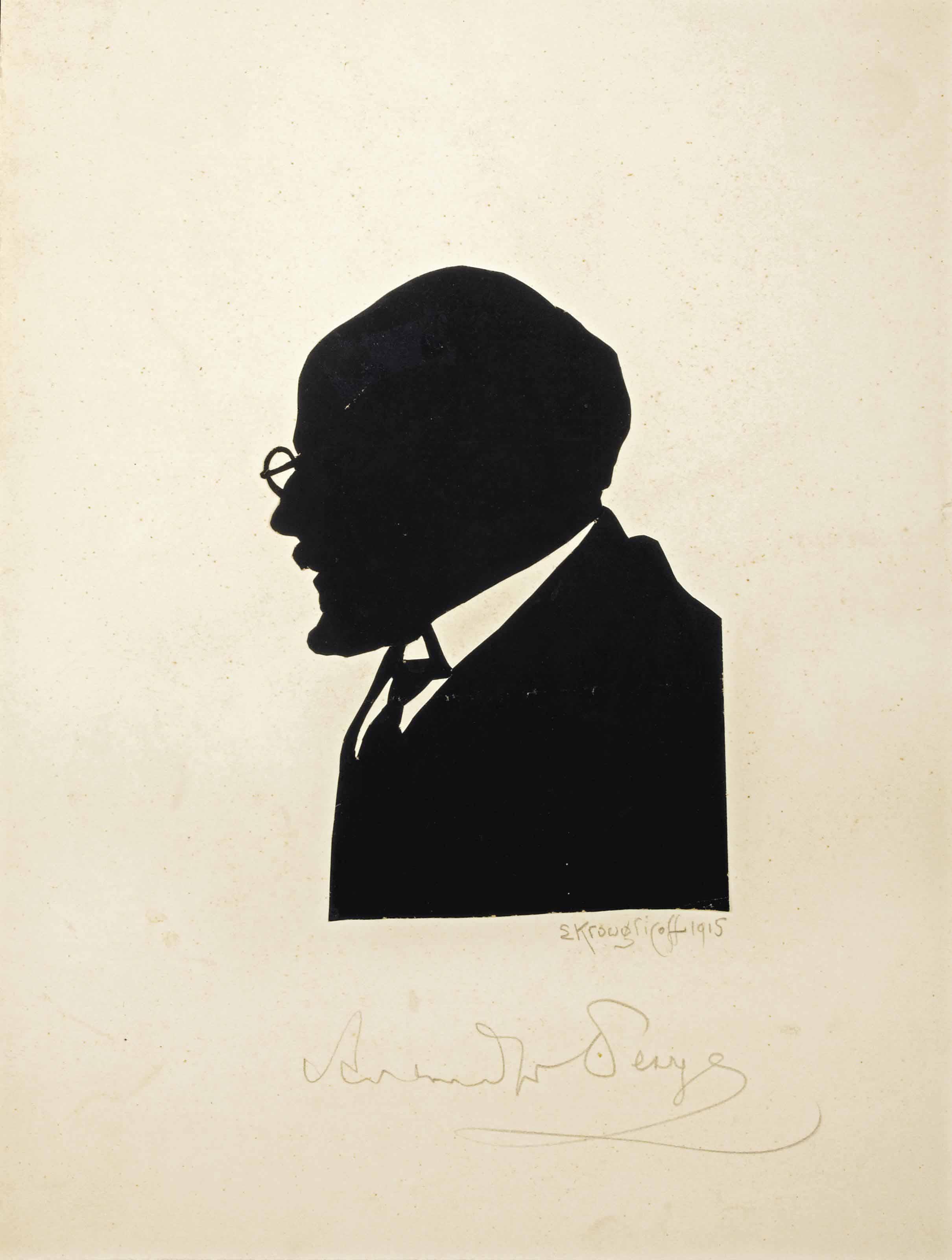 Silhouette of Alexandre Benois (1870-1960)