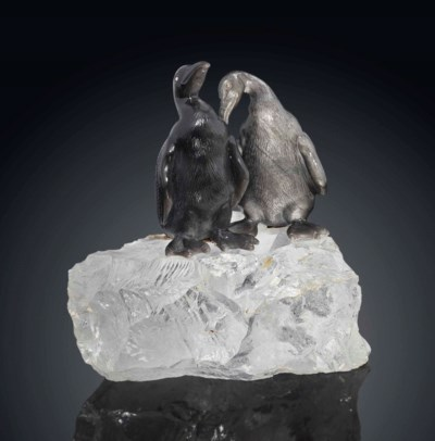 AN OBSIDIAN AND ROCK CRYSTAL G