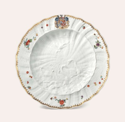 A MEISSEN ARMORIAL PLATE FROM