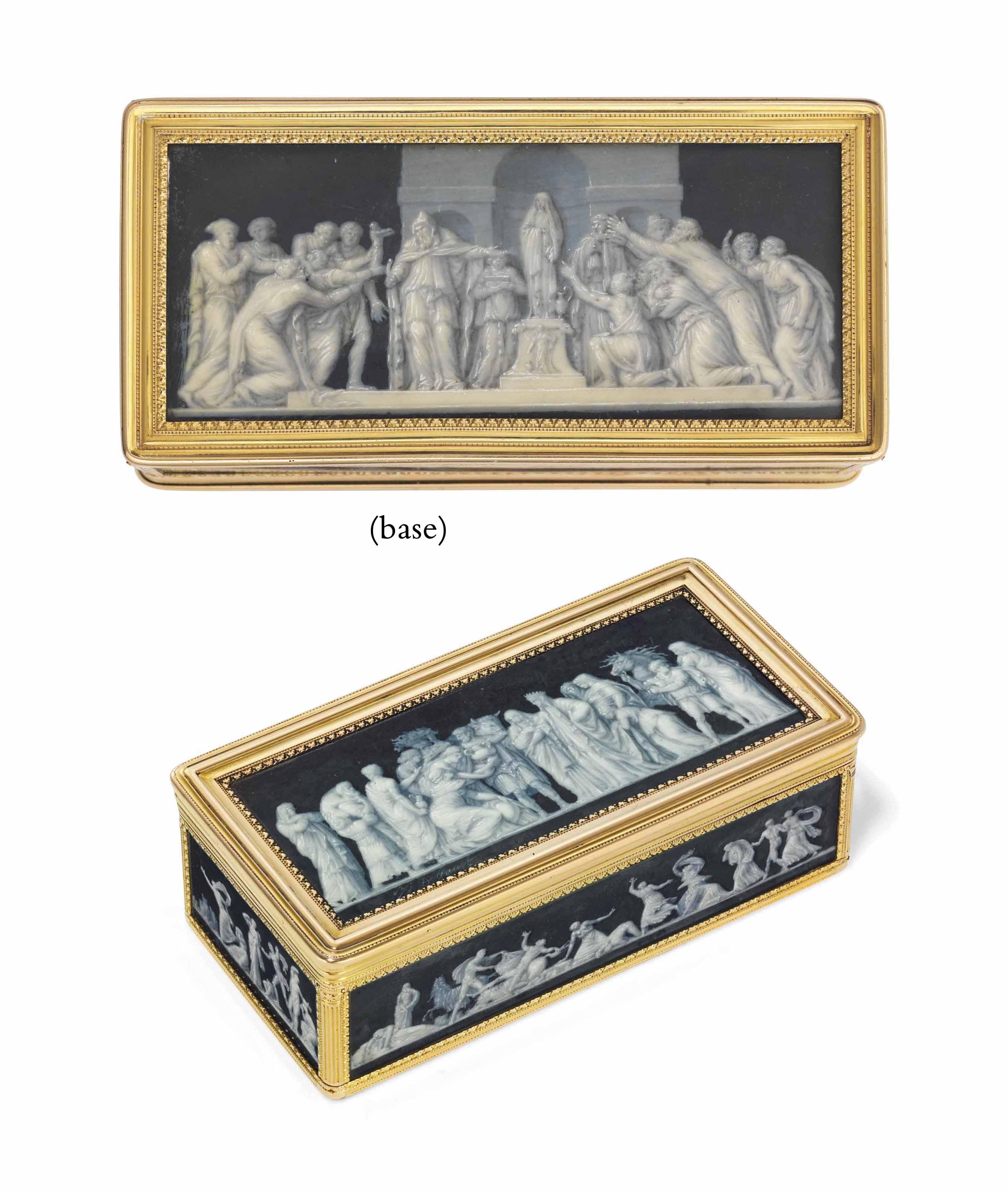 A LOUIS XVI GOLD-LINED BOITE-A-MINIATURES