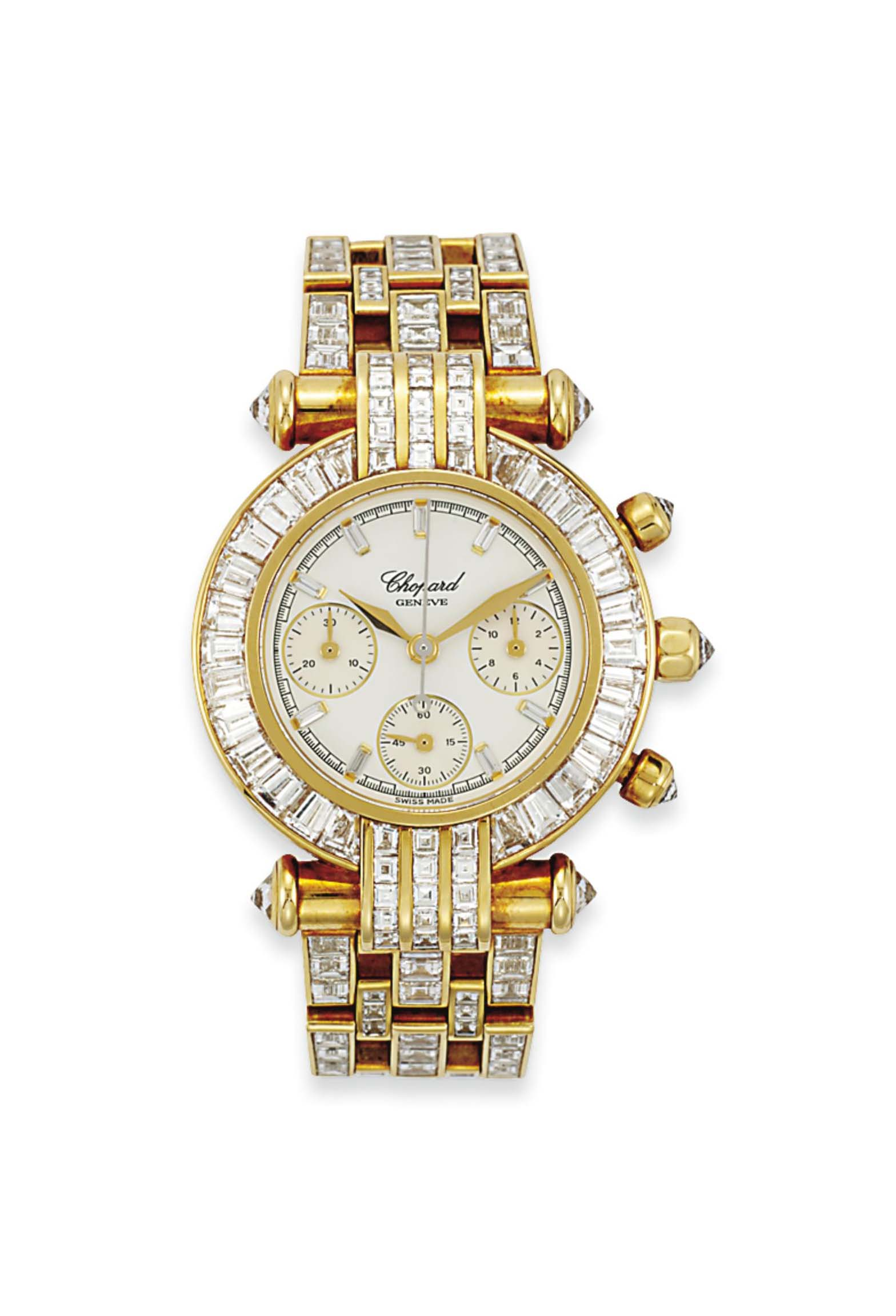 18 Carat Rose Gold: A FINE 18 CARAT GOLD AND DIAMOND 'IMPERIALE' WRISTWATCH