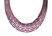 A RUBY AND DIAMOND NECKLACE, BY STEFAN HAFNER