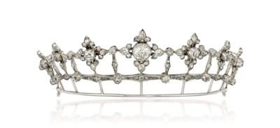 A 19TH CENTURY DIAMOND TIARA
