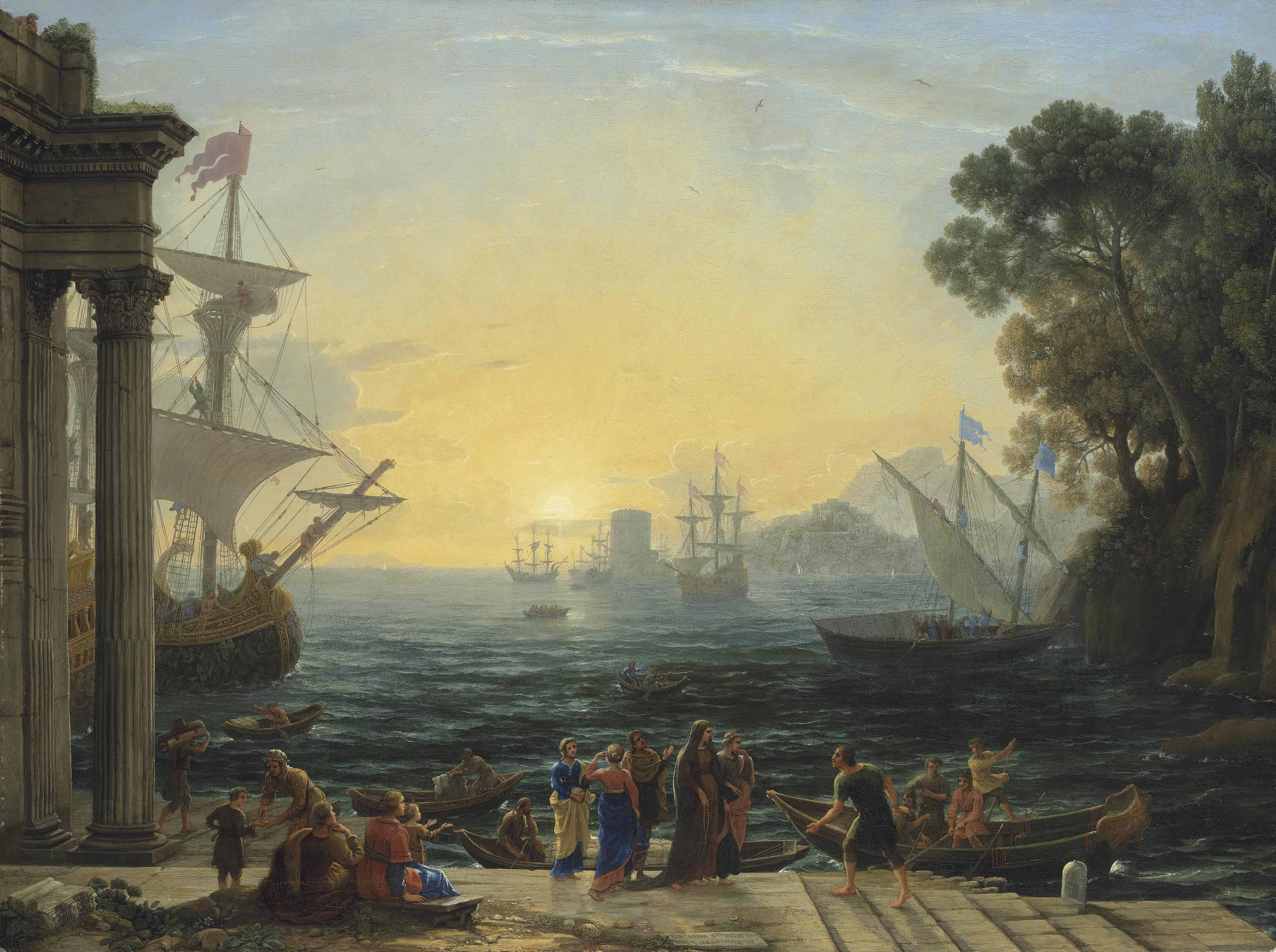 Audio: Claude Gellée, called Claude Lorrain, A Mediterranean port at sunrise with the Embarkation of Saint Paula for Jerusalem