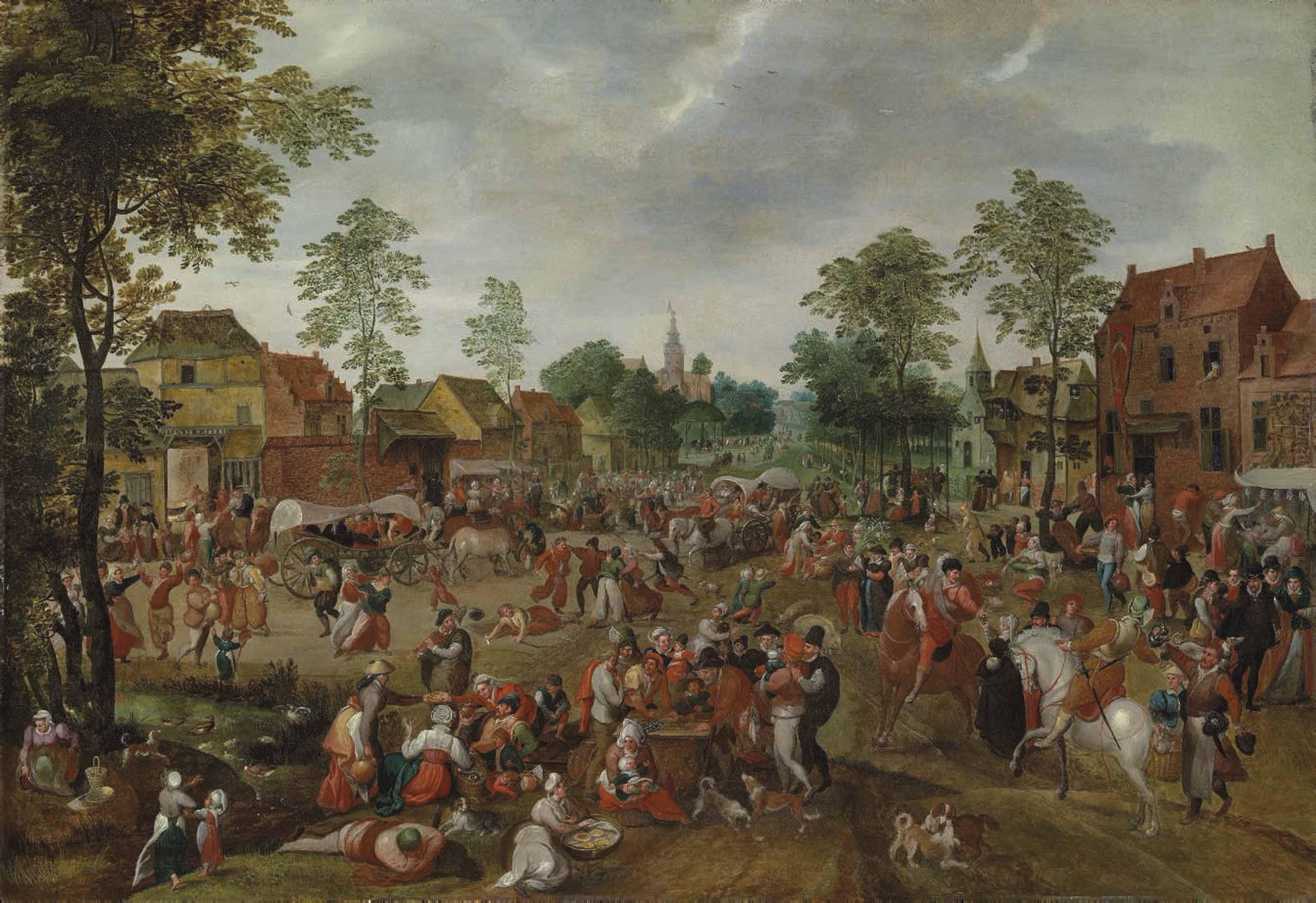 A village celebrating the kermesse of Saint George