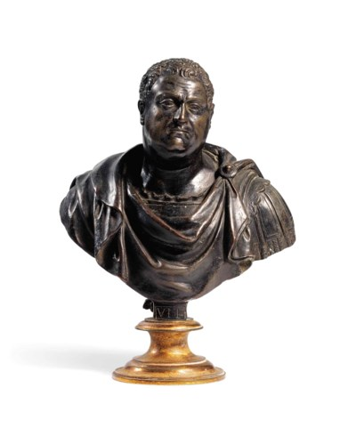 A BRONZE BUST OF THE EMPEROR V