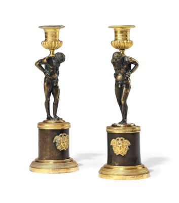A PAIR OF SWEDISH ORMOLU AND P