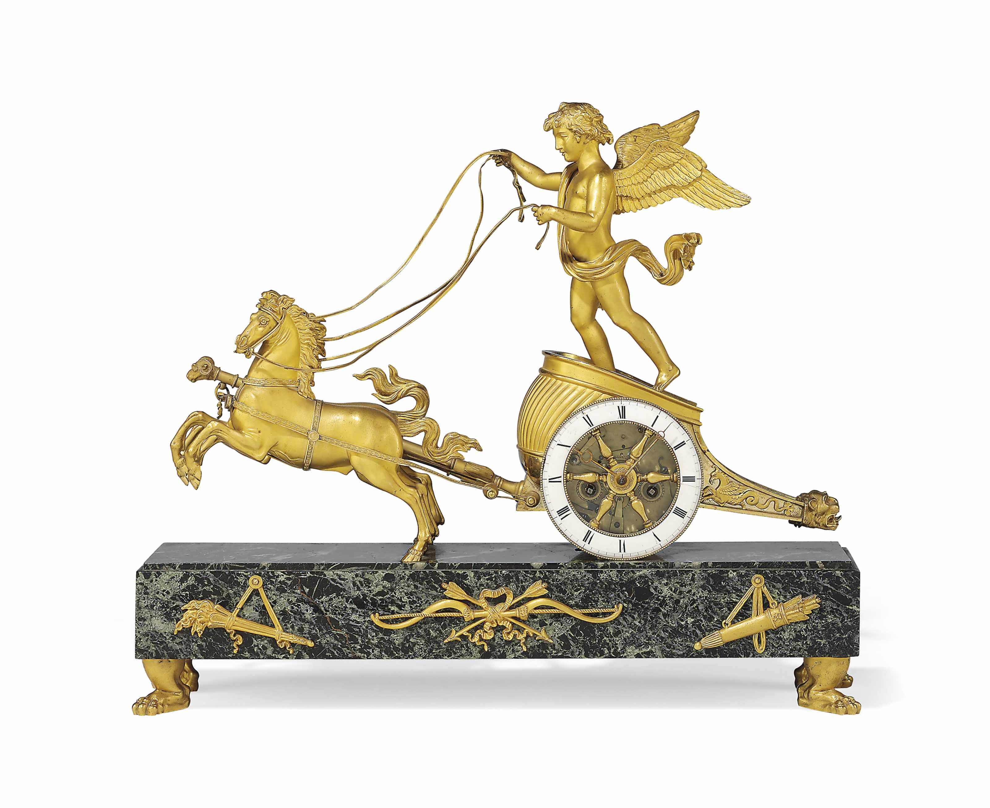 AN EMPIRE ORMOLU AND VERDE ANT