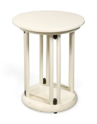 AN AUSTRIAN WHITE PAINTED 'FLEDERMAUS' STYLE OCCASIONAL TABLE