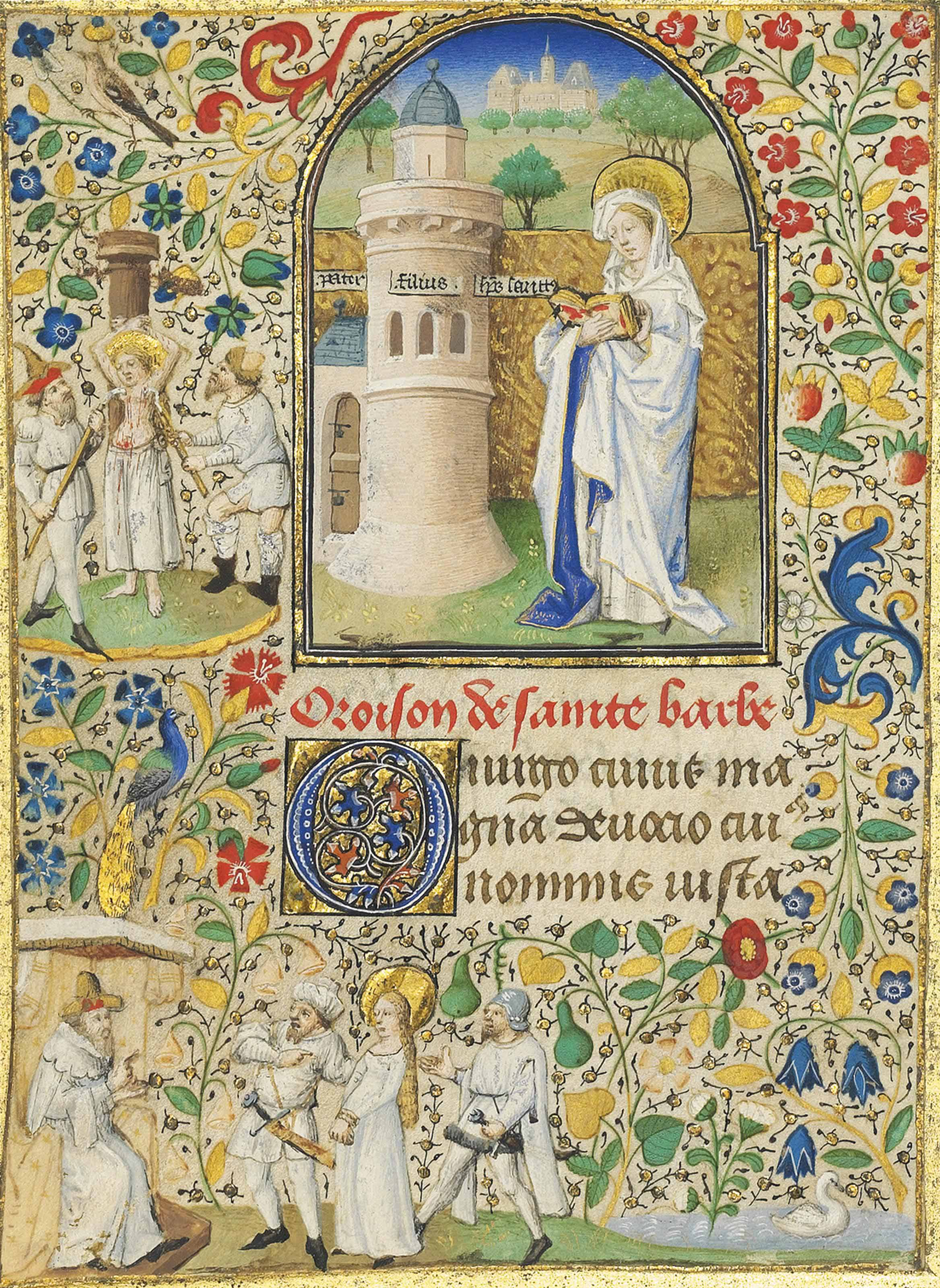 ST BARBARA, miniature with ful