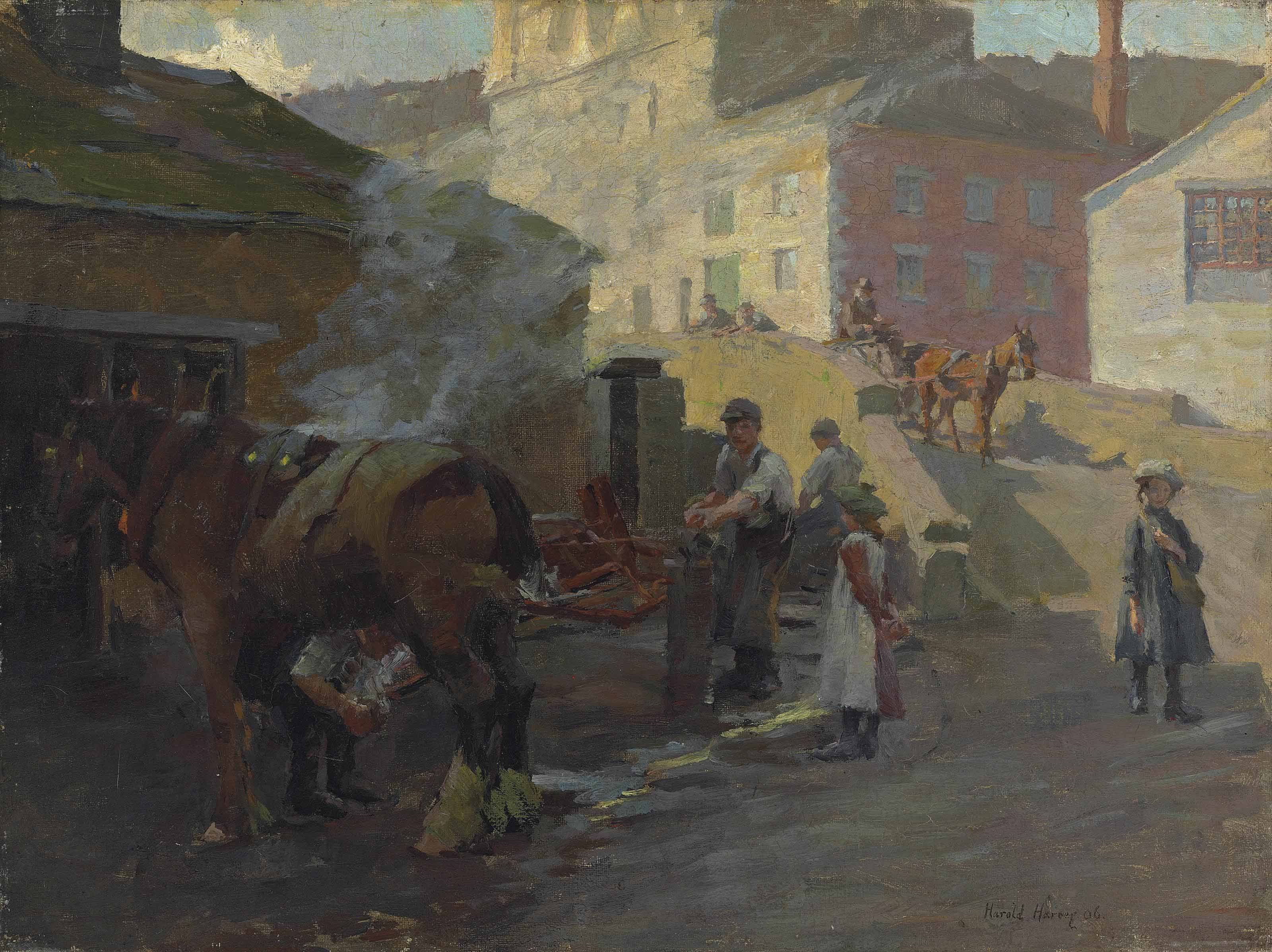 The Blacksmith's Shop by the Old Bridge, Newlyn