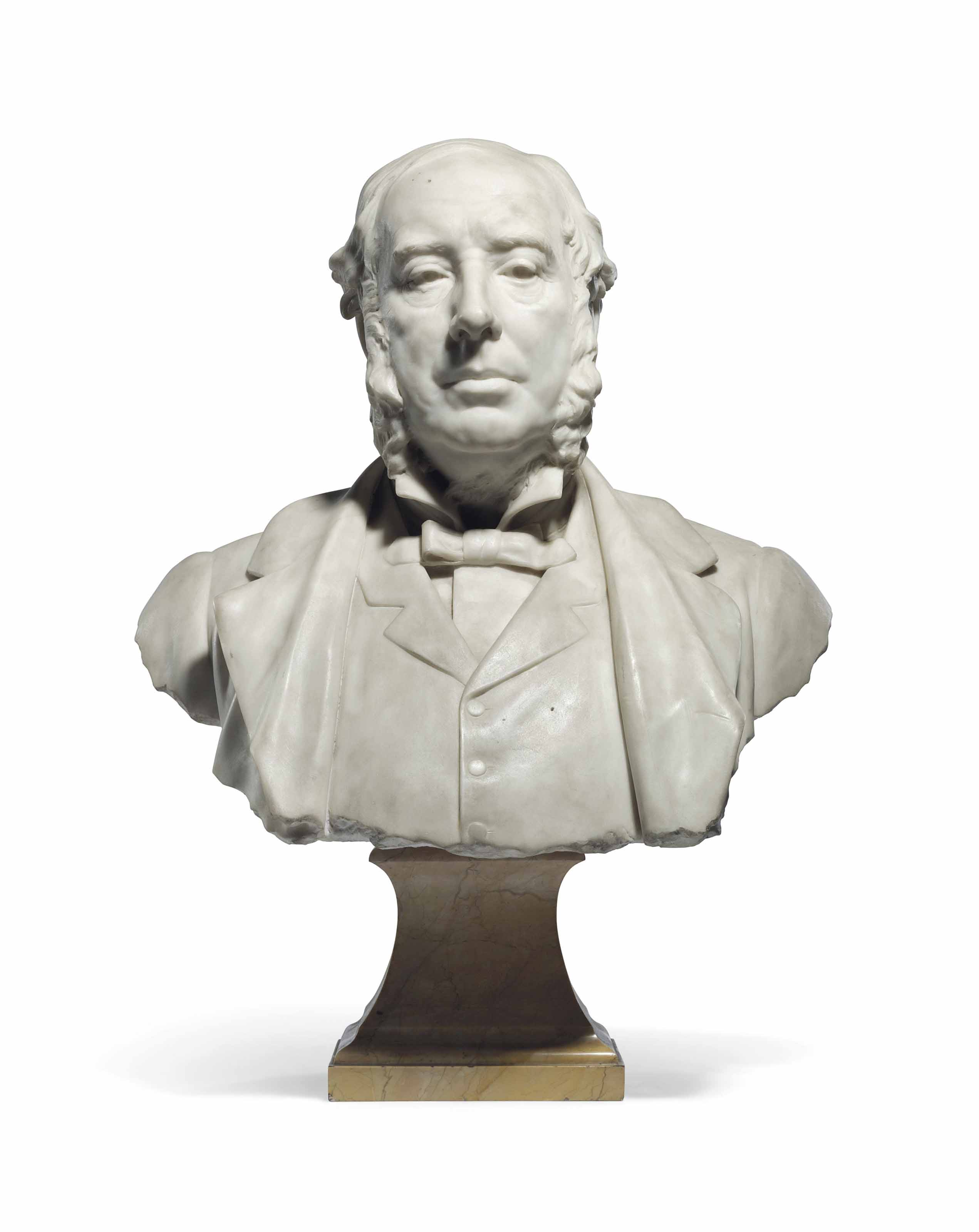 Portrait bust of Sir William Agnew, 1st Bt. (1825-1910)