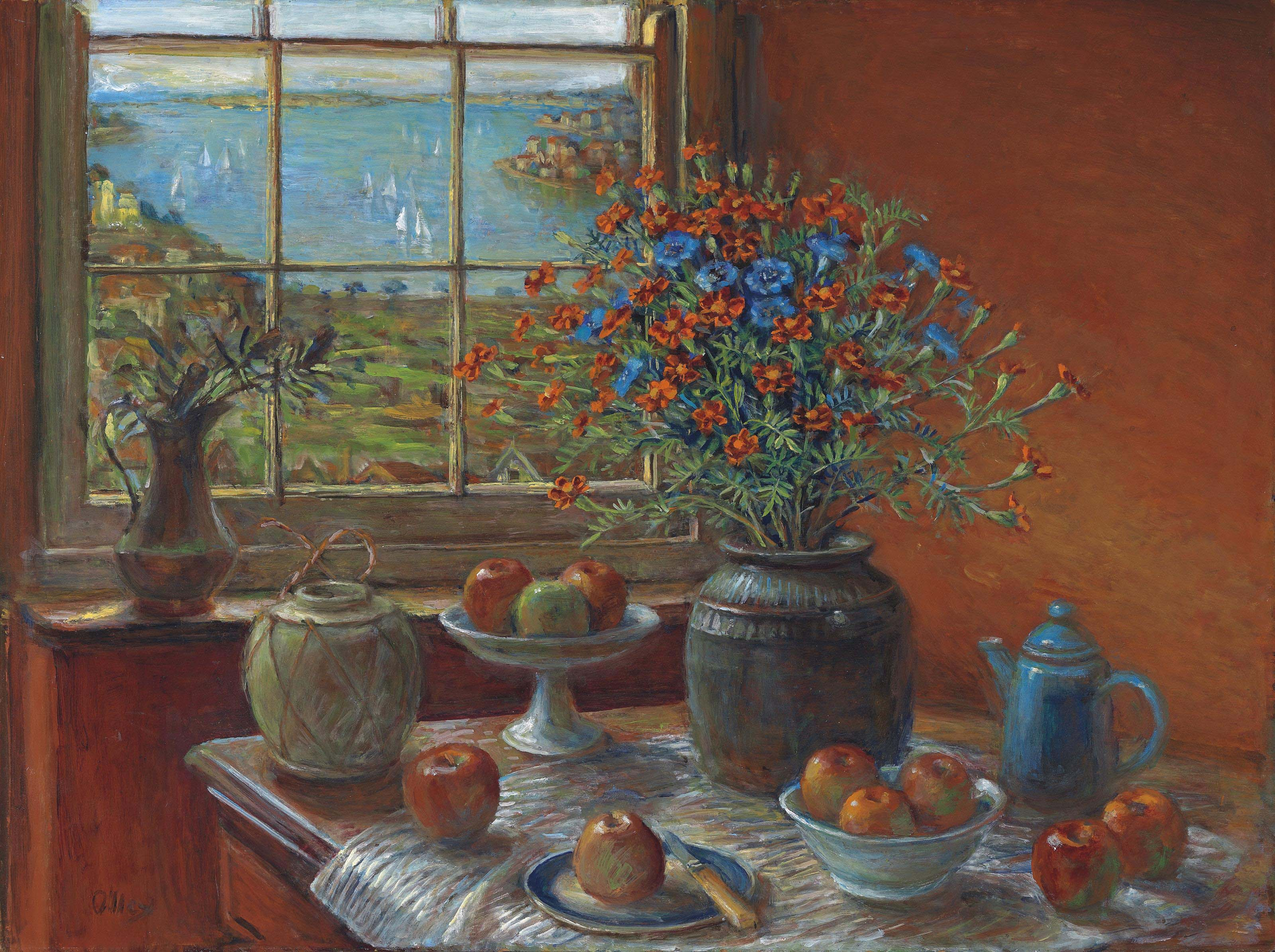 Still Life with Harbour View