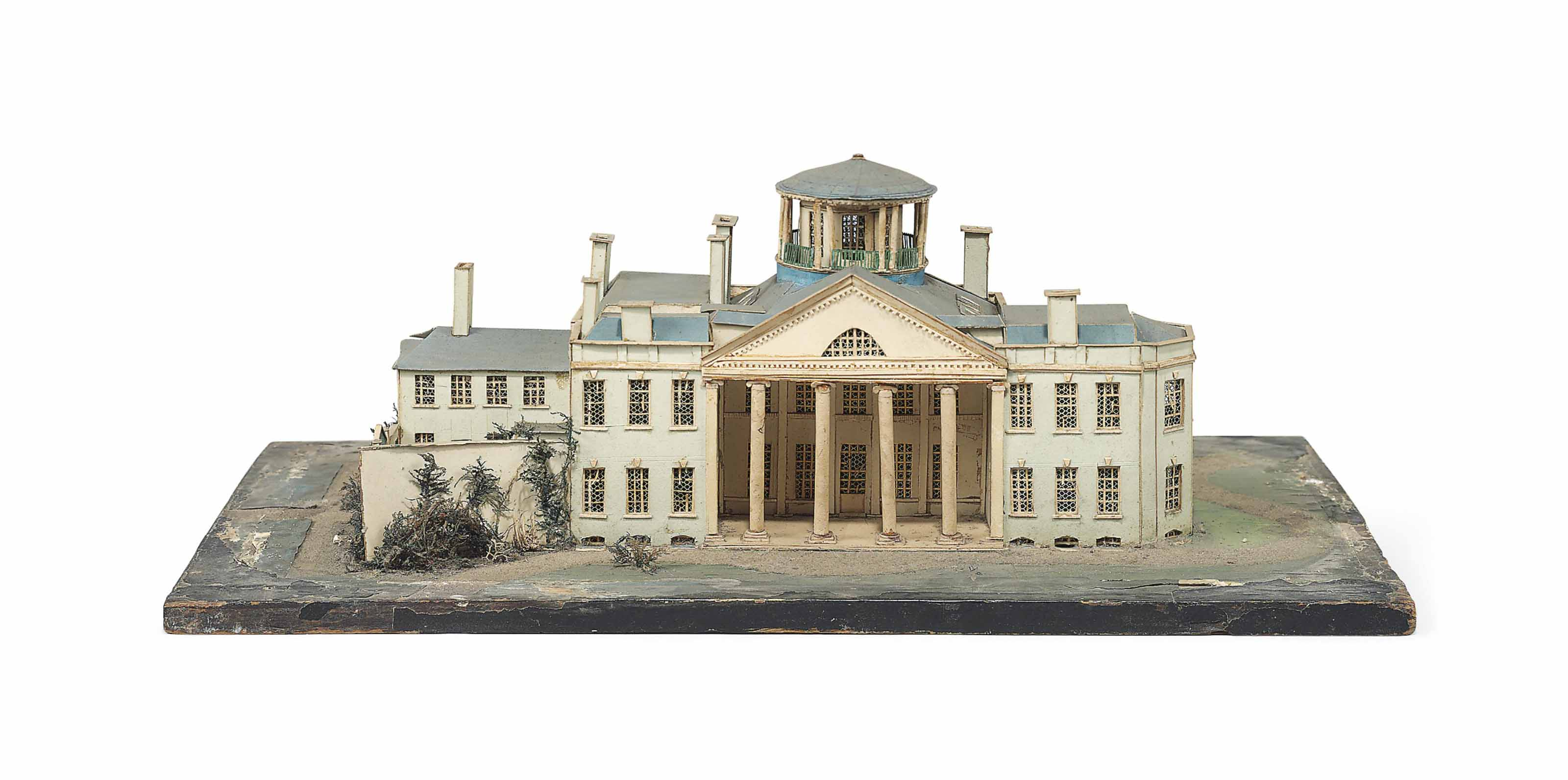 A WILLIAM IV CUT-CARD MODEL OF AN UNIDENTIFIED MANSION