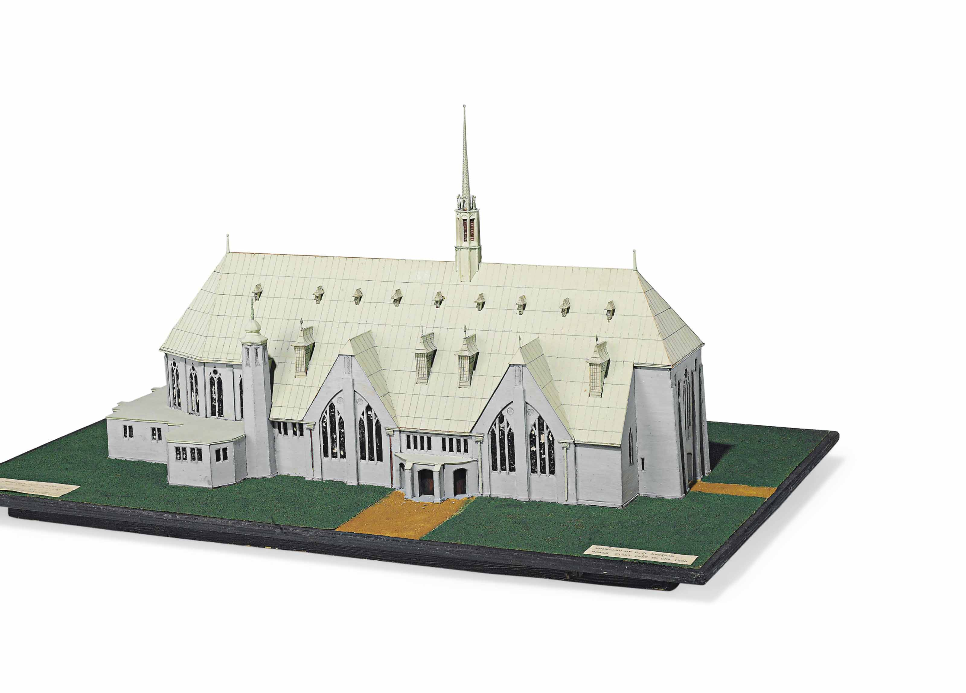 AN ARCHITECTURAL MODEL OF A PROPOSED DESIGN FOR GREENFORD CHURCH, MIDDLESEX