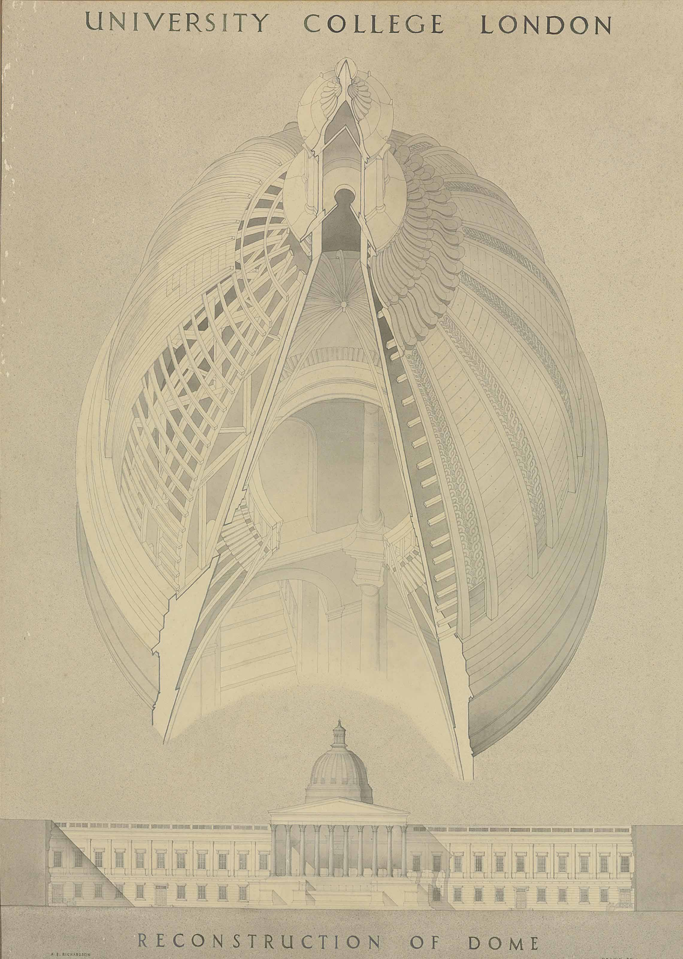 Reconstruction of the Dome of University College London