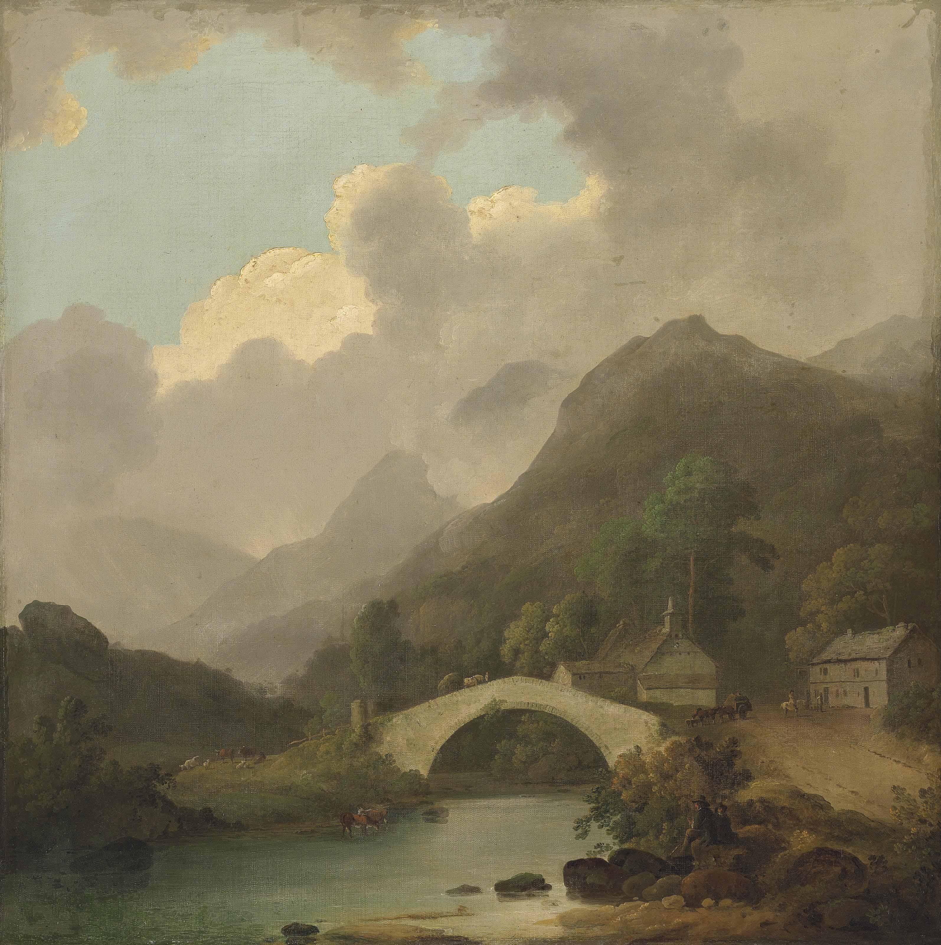 A view of Pelter Bridge, Rydal, Cumbria
