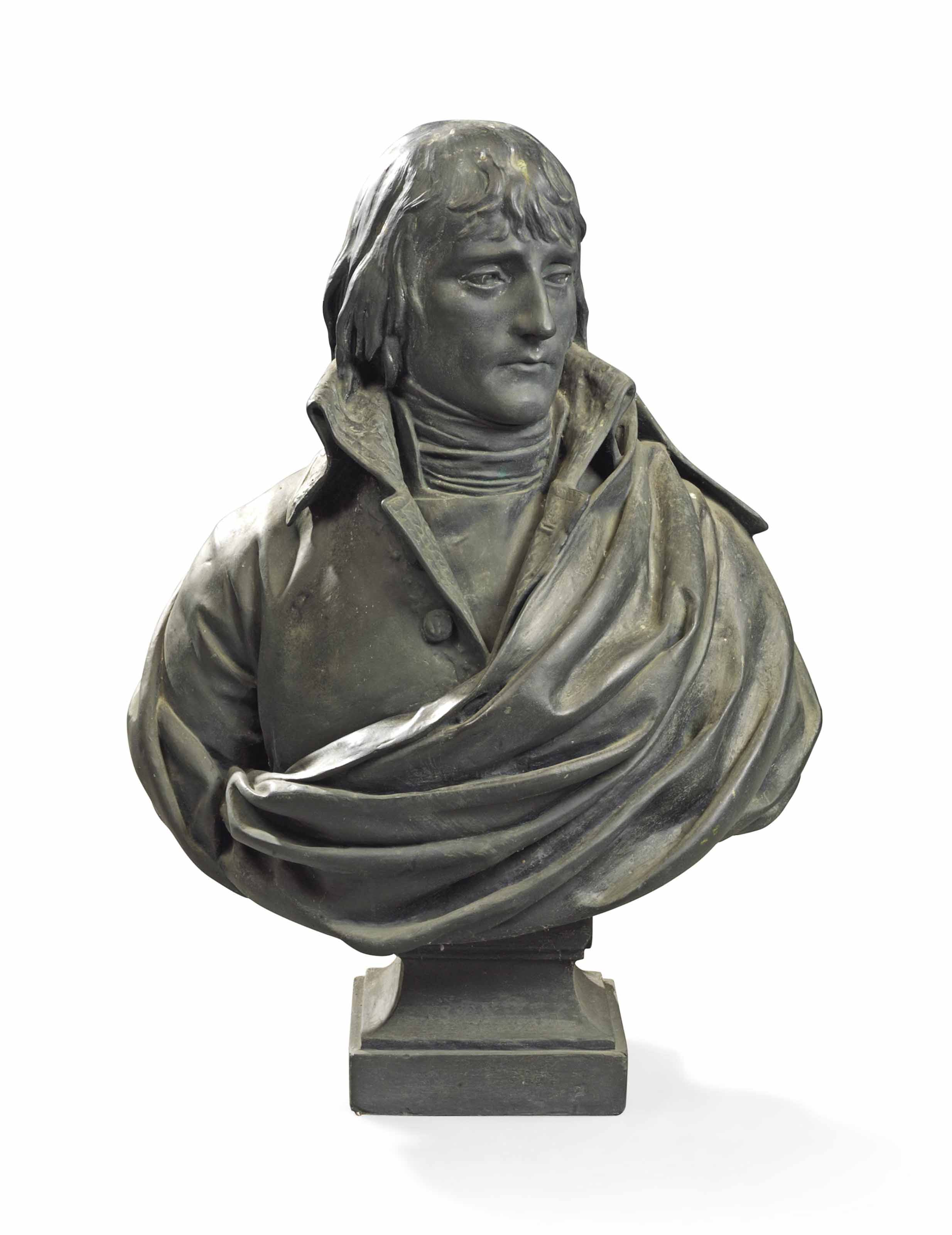 A BRONZE BUST OF NAPOLEON AS FIRST CONSUL