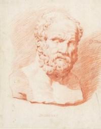 A sculptural head of Diogenes