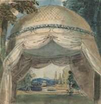 Design for a tented garden pavilion