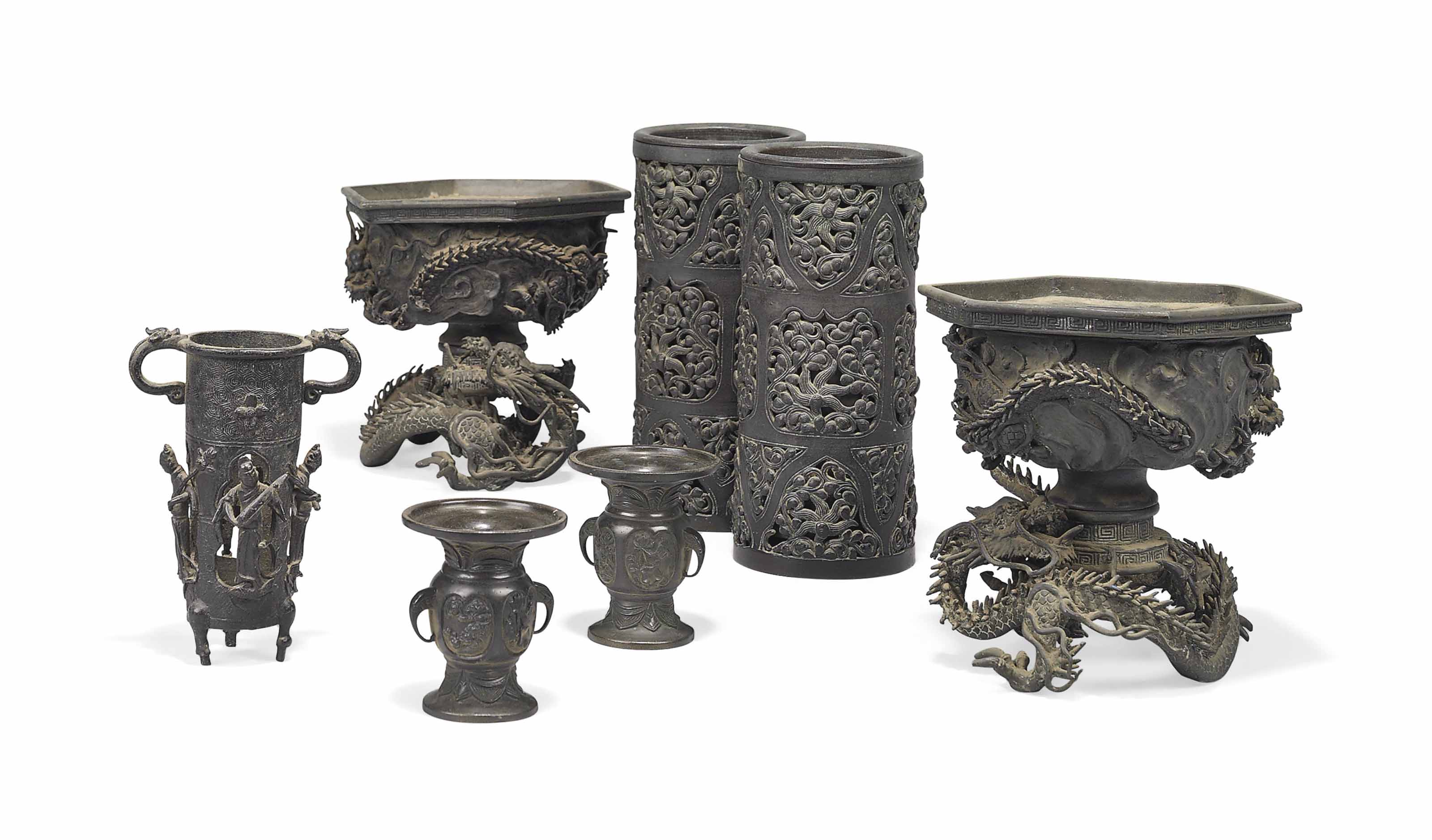 A Group of Asian Bronzes