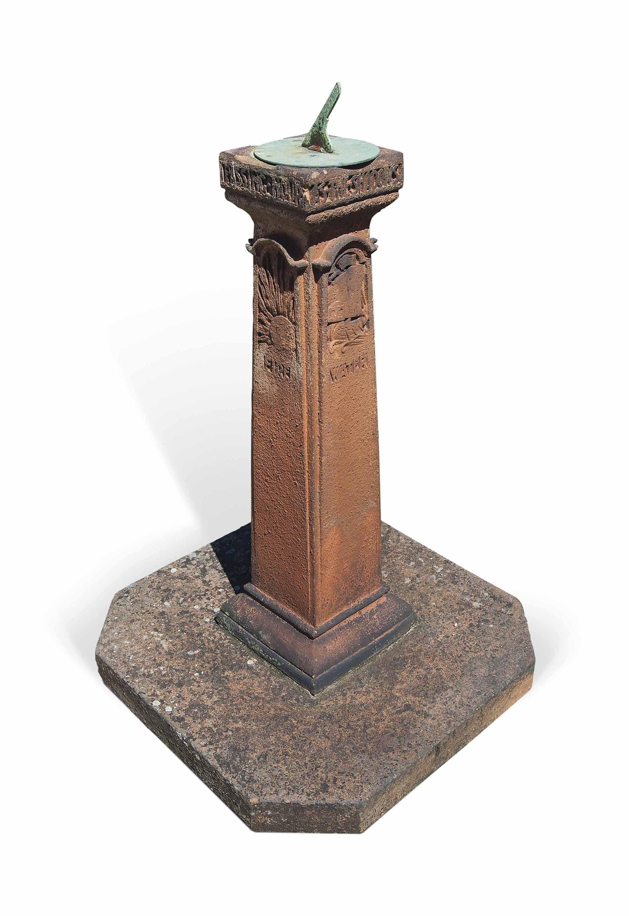large stone photos antiques antique atlas weathered ston pedestal concrete sundial patinated