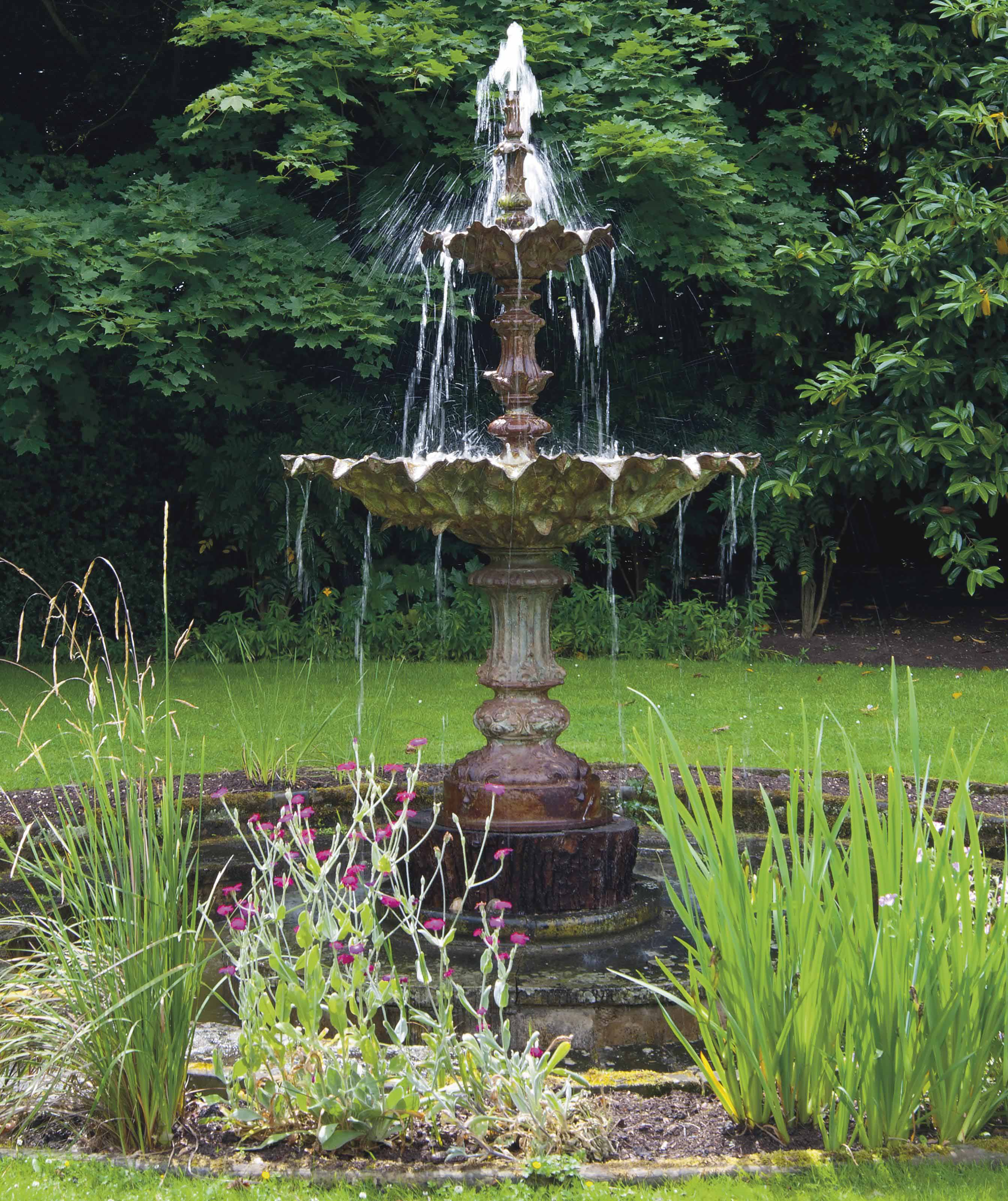 A FRENCH CAST IRON FOUNTAIN
